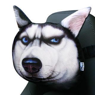 卡西奴 3D哈士奇汽车头枕  券后16元包邮 - 天猫