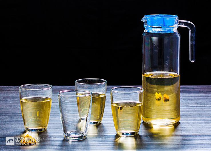 乐美雅(Luminarc) 凉水壶五件套 1壶4杯 晶莹透亮 ¥20 - 天猫