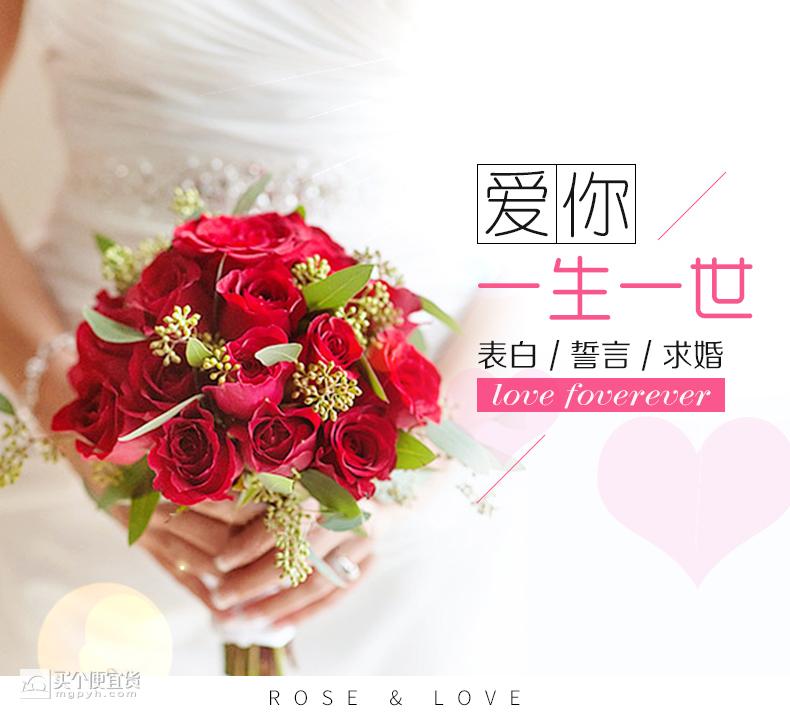 天堂鸟 19朵玫瑰花束礼盒鲜花同城速递 ¥20 - 天猫