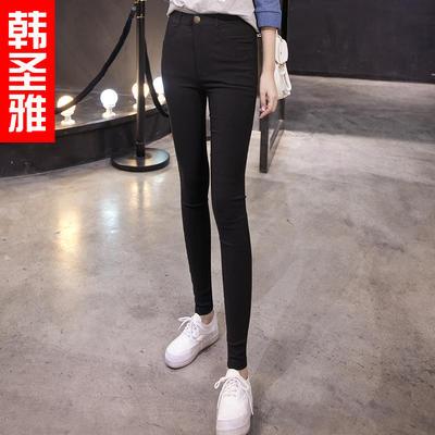 ¥24 黑白色打底裤女外穿紧身破洞小脚铅笔裤 24包邮(34-10) - 天猫